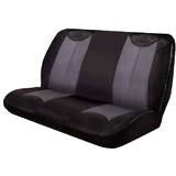 Black Bull Leather Look Seat Covers Universal Rear Size 06 - Black/Grey