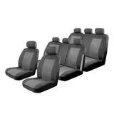 Custom Seat Covers Kia Carnival YP 2/2015-On 3 Rows Deploy Safe Charcoal