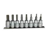 Teng Tools 3/8 inch Drive 9 Piece AF  Hex Socket Set On Rail M3811