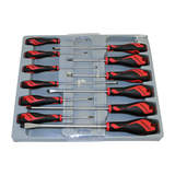 Teng Tools - 12 Piece Mega Drive Screwdriver Set Slotted Phillips and Pozi MD912N
