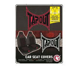 Tap Out Seat Covers Quilted Mesh Pair Air Bag Safe Black & Red Tapout