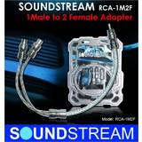 Soundstream RCA-1M2F 1 Male 2 Female RCA Y-Cable Adaptor