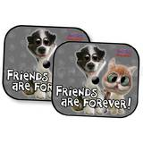 Twisted Whiskers Interior Sun Shade Friends Are Forever One Pair
