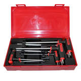 Teng Tools 7 Piece Hex T-Handle Set AF Allen Imperial Tray Set TTHEX7AF