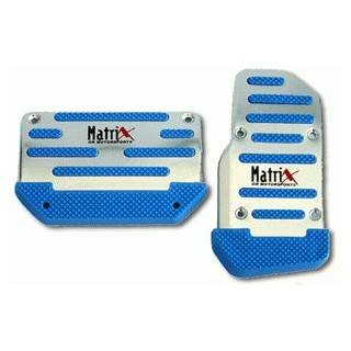 Auto Racing Blue Sport Pedals on Matrix Racing Pedal Pads   Blue Auto   Matrix