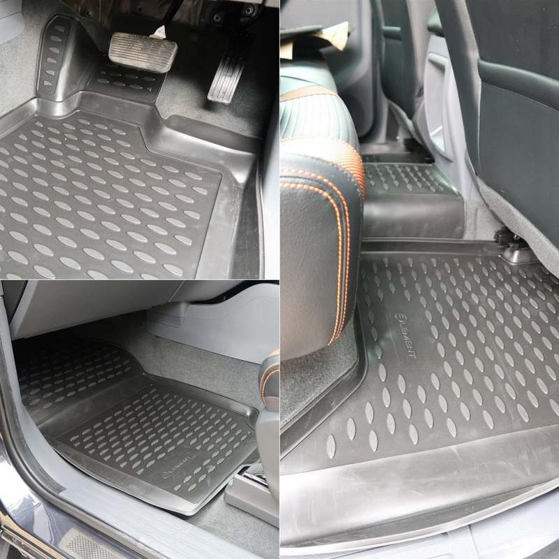 3D Rubber Floor Mats Toyota Landcruiser 100 Series 1998-2007 4 Piece