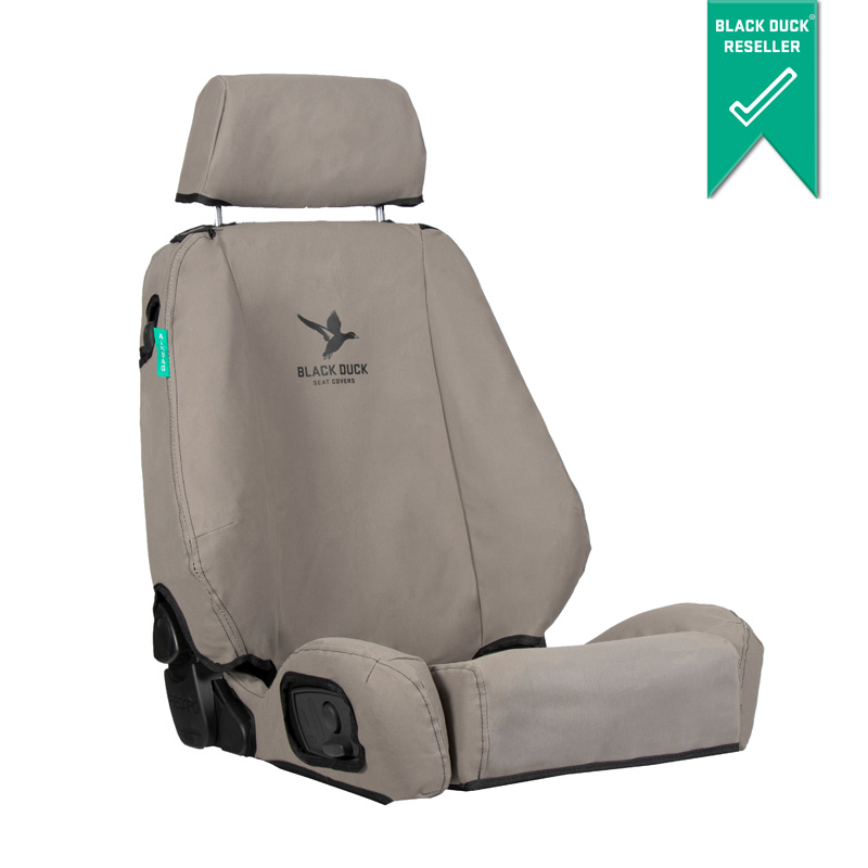 Black Duck Canvas Seat Covers Mitsubishi/Fuso Fighter FK6/FM6/FN6 5/2011-On Grey