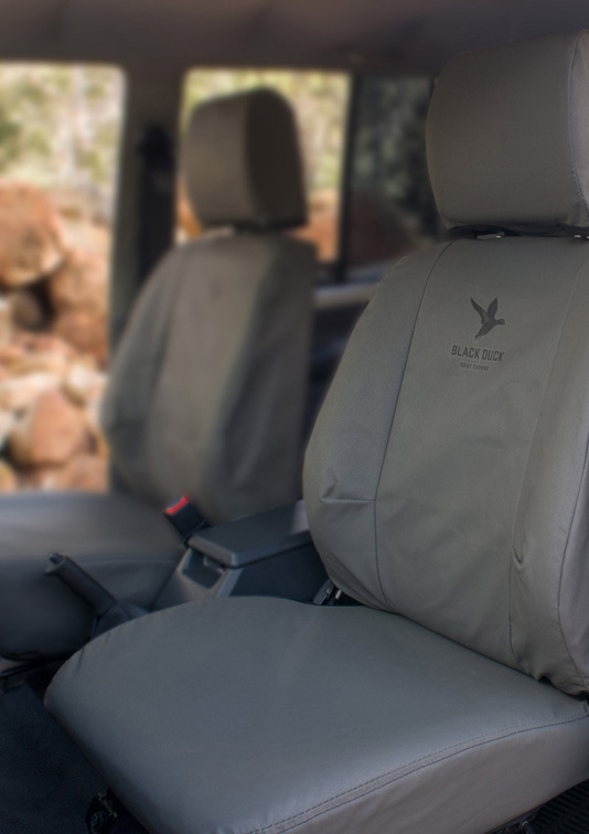 Black Duck Canvas Seat Covers Ford Ranger Px Series 2 3 6
