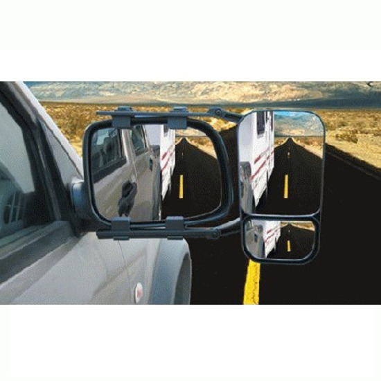 Towing Mirror Multi Fit 4WD Caravan Boat Single Universal Heavy Duty Clip On MH717
