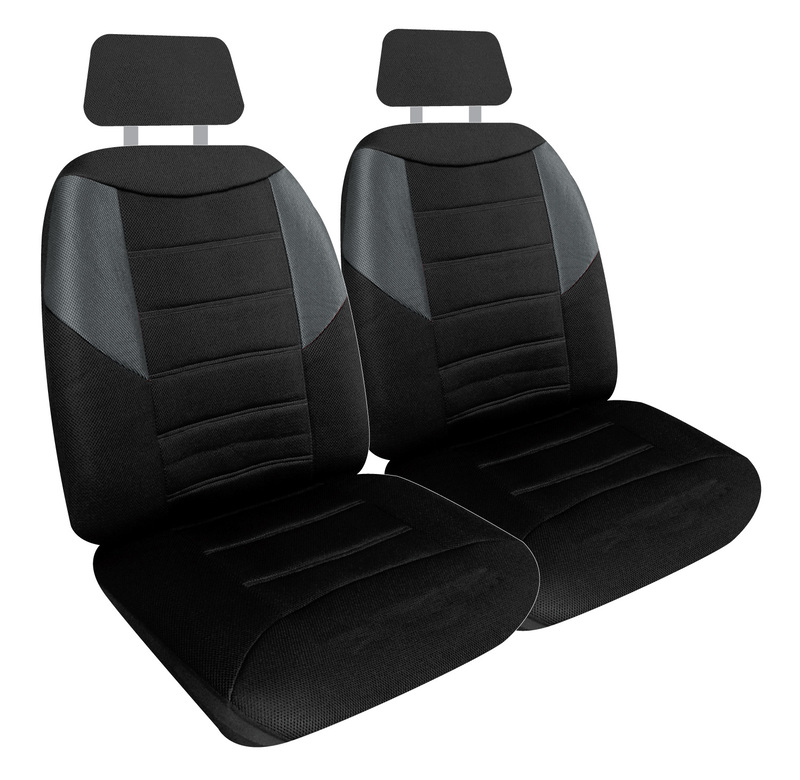 Carbon Mesh Front Seat Covers Pair Airbag Safe