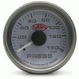 Saas 52mm 2 Inch Car Oil Pressure White Gauge Multi Colour