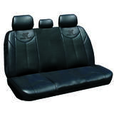 Black Bull Leather Look Seat Covers Universal Rear Size 06 - Black