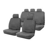 Canvas Car Seat Covers Holden Colorado 7 RG LT/LTZ 4 Door Wagon 11/2012-On Air Bag Safe on 2 Rows