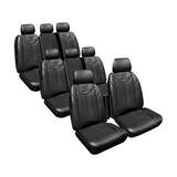 Custom Made Black Leather Look Seat Covers Hyundai Imax TQ Van 05/2011-On 3 Rows Armrest