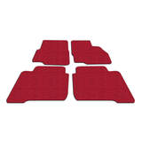 Koil Red Floor Mats Front & Rear Rubber Composite PVC Coil Universal Fit
