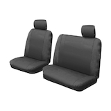 Custom Canvas Seat Covers Ford Ranger PX XL Mazda BT50 BT-50 Single Cab 10/2011-5/2015 Black