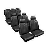 Custom Made Seat Covers Leather Look Black Honda Odyssey RC VTi 2/2014-On 3 Rows