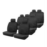 Custom Made Seat Covers Neoprene Mitsubishi Outlander 11/2012-On Deploy Safe Three Rows