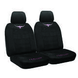 RM Williams Longhorn Suede Velour Size 30 Seat Covers One Pair Jillaroo Black Airbag Safe