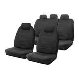 Neoprene Seat Covers Set Suits Skoda Fabia 5JF MY13 Monte Carlo 4D Hatch 6/2012-4/2015 Wetsuit 2 Rows