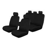 Canvas Car Seat Covers Toyota Hilux SR/SR5 Dual Cab Ute 10/2009-9/2015 Airbag Deploy Safe Black OUT6710BLK