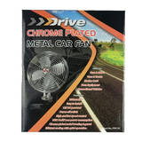 12V Chrome Truck/RV Interior Fan 8 Inch Metal YF812C
