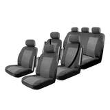 Custom Made Esteem Velour Seat Covers Volkswagen Transporter Multi Van 2005-On 3 Rows