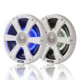 Fusion Sports White Marine Signature 6.5 inch LED Light Speakers 230W SG-CL65SPW