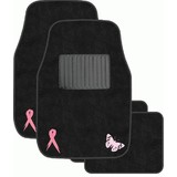 Floor Mats Pink Ribbon Set of 4
