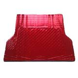 Aluminium Red Shiny Checkerplate Rubber Cargo Boot Floor Mat
