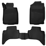 3D Custom Floor Mats Mitsubishi Triton 2016-On Rubber 3 Piece Front & Rear