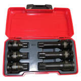 Teng Tools Impact Spline XZN Socket Set 6 Piece T9206