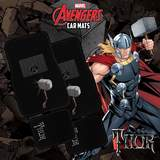 Marvel Avengers Car Floor Mats Black Set of 4 Thor