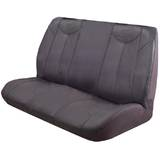 Black Bull Leather Look Seat Covers Universal Rear Size 06 - Grey