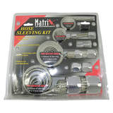 Braided Hose Kit And Clamp Covers/Silver Matrix MX890S