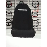 AXS Car Seat Cover Mazda Speed Slip On Throw Over Embroidered Single Black