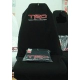 AXS Car Seat Cover TRD Toyota Racing Slip On Throw Over Single Black