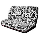 Hot Zebra Seat Covers Rear 06 Black/White