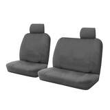 Canvas Custom Seat Covers ML MN Triton Single Cab 9/2006 - 4/2015 Charcoal