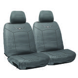 RM Williams Stockyard Canvas Waterproof Car Seat Covers Size 30 Charcoal