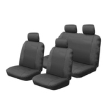 Canvas Car Seat Covers Holden Colorado Crew Cab RC Dual 7/2008-5/2012 Airbag Safe