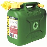 Fuel Safe' Heavy Duty Plastic Fuel Can 5 Litre Green  FC05G Two Stroke
