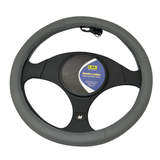 Genuine Leather Steering Wheel Cover Charcoal 15 Inch 38.10cm