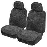 Explorer Diamond Pattern Sheepskin (Lambswool) Seat Covers Pair