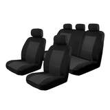Car Seat Covers Custom Subaru XV 1/2012-On 2 Rows Black Deploy Safe Airbag