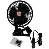 12V Car Metal Oscillating Fan 24cm 6 Inch Adjustable Arm Clip-On or Dash-mount