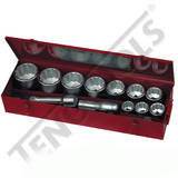 Teng Tools - 15 Piece 1 inch Drive Metric Socket Set