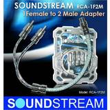 Soundstream RCA-1F2M 1 Male 2 Female RCA Y-Cable Adaptor