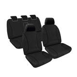 Tradies Full Canvas Seat Covers Ford Ranger (PX) Dual Cab/All Badges 6/2015-On Black