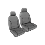 Tradies Full Canvas Seat Covers Holden Colorado (RG) Space Cab/All Badges 2012-On Grey